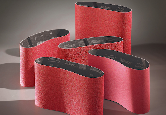 Norton Abrasives Red Heat Floor Sander Belts 11 7/8 Inch x 31 1/2 Inch
