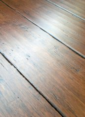 LW Mountain Hardwood Floors Prefinished Solid Hand Scraped Click Strand Bamboo Flooring